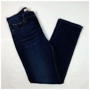 Levi's Perfectly Slimming 512 SKINNY Dark Jeans 12